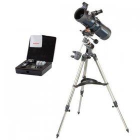Телескоп Celestron AstroMaster 114 EQ + Набор аксессуаров АstroMaster