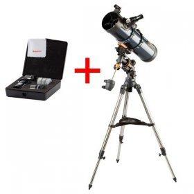 Телескоп Celestron AstroMaster 130 EQ + Набор аксессуаров АstroMaster