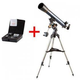 Телескоп Celestron AstroMaster 90 EQ + Набор аксессуаров АstroMaster